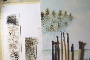 brushes, trees for Cornel