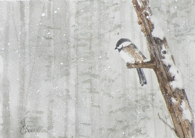 chickadee miniature